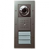 Surface-mounted door station with colour camera, door loudspeaker and call button, 2/3-gang
