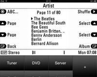 REVOX music server screen