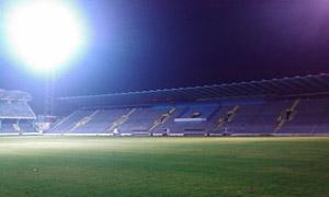 Стадион у Подгориги са укљученом расветом