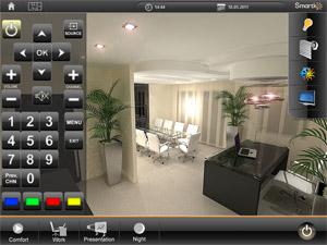 HomeServer визуелизација за контролу телевизора