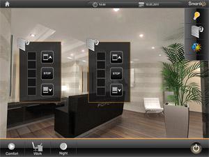 HomeServer визуелизација за контролу ролетни